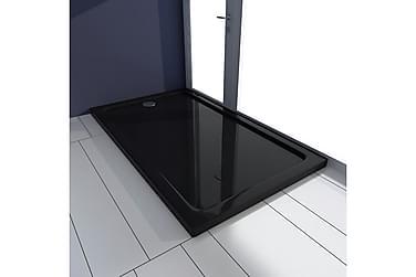 Rektangulær ABS Dusjplate/bunn svart 70 x 120 cm
