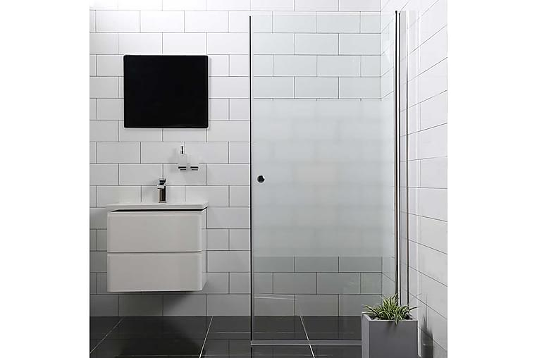 Bathlife Mångsidig Dusjdør Delvis Frostet Rett Dør 90cm - 90cm - Baderom - Dusjer - Dusjdører