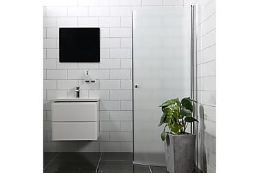Bathlife Mangesidig Dusjdør 100 cm Rund Frostet