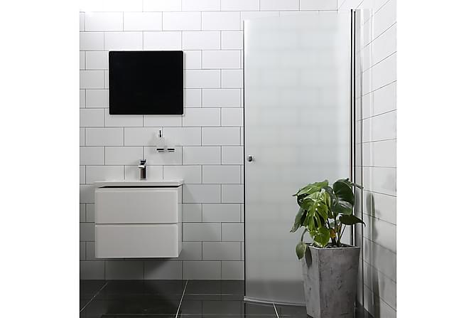Bathlife Mangesidig Dusjdør 100 cm Rund Frostet - Sølv - Baderom - Dusjer - Dusjdører