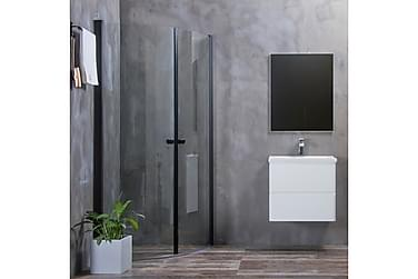 Bathlife Allsidig Dusjhjørne Rundt Dør 45 ° Svart