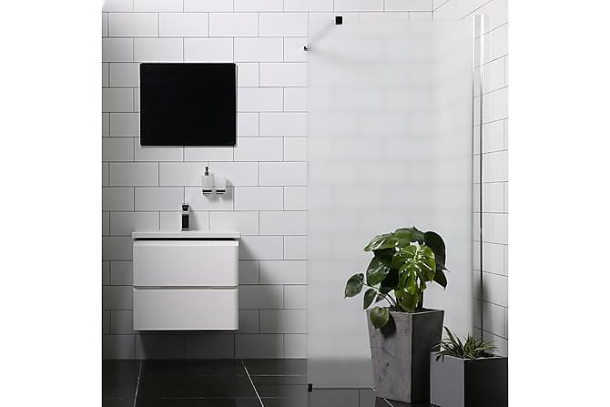 Bathlife Mangesidig Dusjvegg 100 cm Frostet - Sølv - Baderom - Dusjer - Dusjvegger
