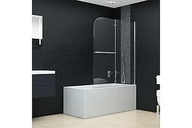 Leddet dusjdør med 2 paneler ESG 120x140 cm