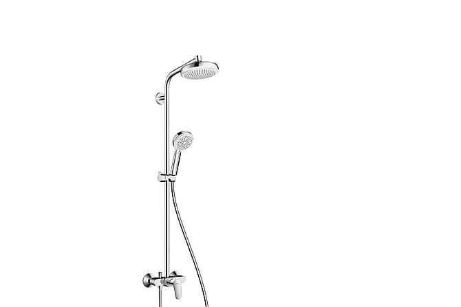 Takdusjsett Hansgrohe Crometta 160 Showerpipe 1jet - Baderom - Dusjutstyr - Dusj