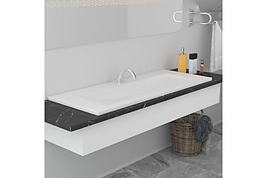 Innebygd vask 101x39,5x18,5 cm keramisk hvit