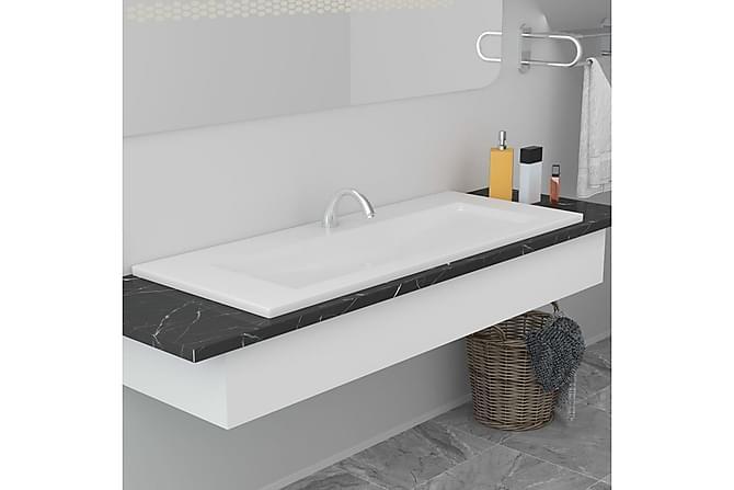 Innebygd vask 101x39,5x18,5 cm keramisk hvit - Hvit - Baderom - Servant og håndvask