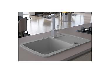 Kjøkkenvask enkel kum granitt grå
