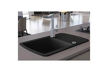 Kjøkkenvask i granitt enkel kum svart