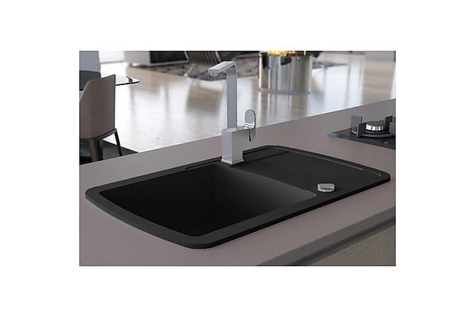 Kjøkkenvask i granitt enkel kum svart - Baderom - Servant og håndvask