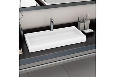 Vask 100x46x11 cm mineralstøpt/marmorstøpt hvit