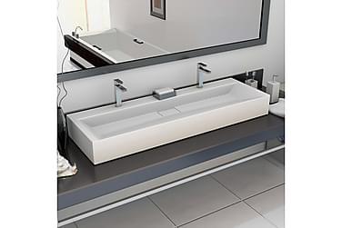 Vask 120x46x11 cm mineralstøpt/marmorstøpt hvit