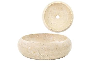 Vask 40x12 cm marmor krem