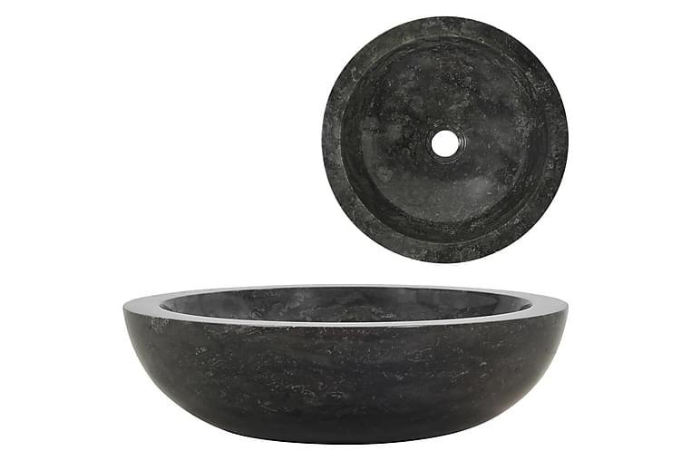 Vask 40x12 cm marmor svart