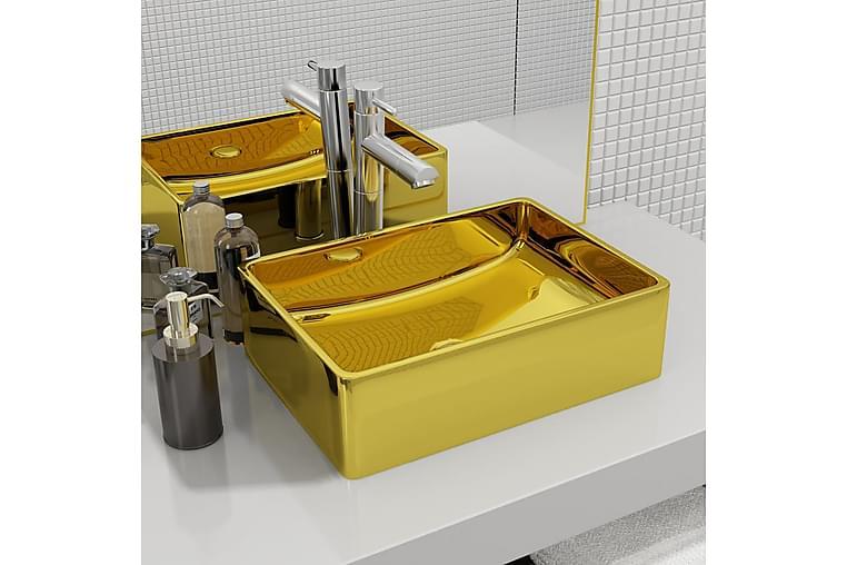 Vask 41x30x12 cm keramikk gull - Baderom - Servant og håndvask - Enkel vask