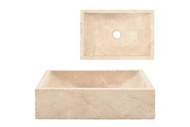 Vask 45x30x12 cm marmor krem