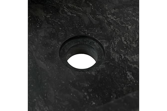 Vask 45x30x12 cm marmor svart - Baderom - Servant og håndvask
