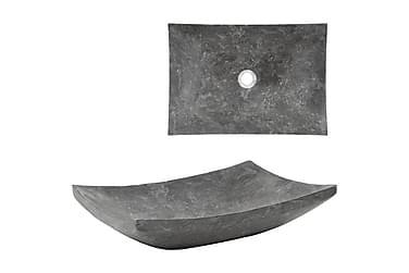 Vask 50x35x12 cm marmor svart