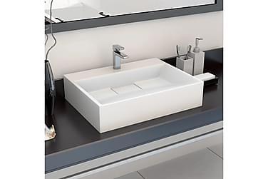 Vask 50x38x13 cm mineralstøpt/marmorstøpt hvit