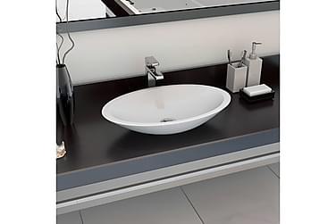 Vask 59,3x35,1x10,7 cm mineralstøpt/marmorstøpt hvit