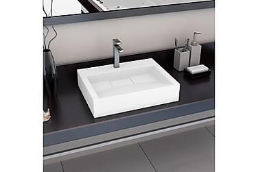Vask 60x38x11 cm mineralstøpt/marmorstøpt hvit