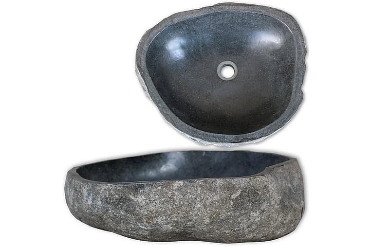 Vaskeservant oval elvestein 38-45 cm - Baderom - Servant og håndvask - Enkel vask