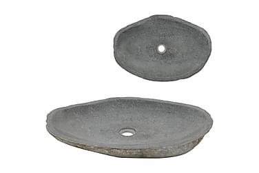 Vaskeservant oval elvestein 60-70 cm