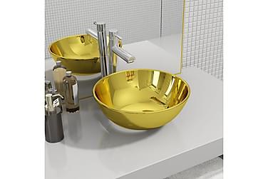 Vask 28x10 cm keramikk gull