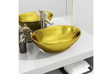 Vask 40x33x13,5 cm keramisk gull