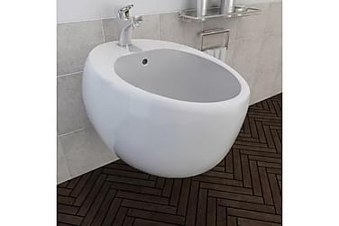Vegghengt Bidet Hvit Keramikk