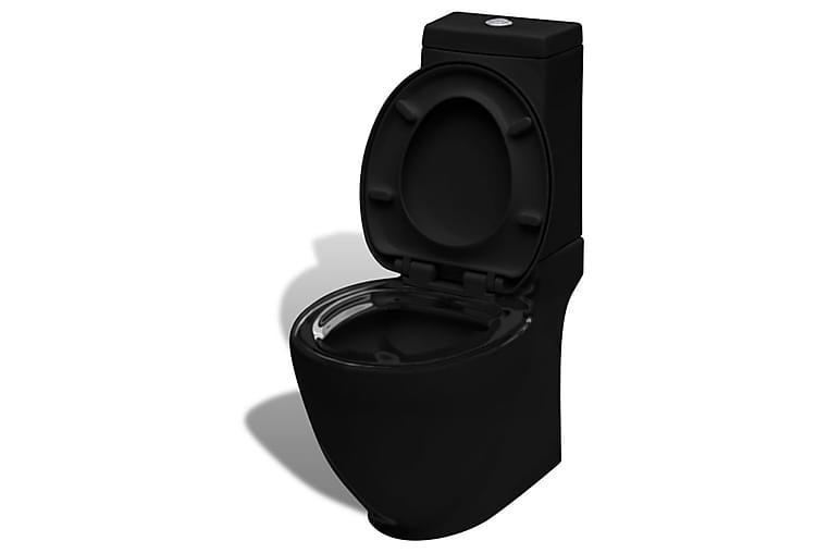 Firkantet Keramisk Toalettskål Svart