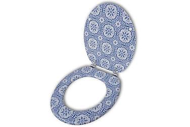 Toalettsete med MDF-Lokk Porselen Design