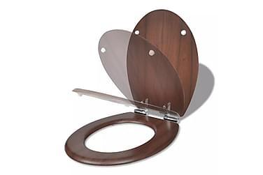 Toalettsete med myk lukkefunksjon MDF stilrent design brun