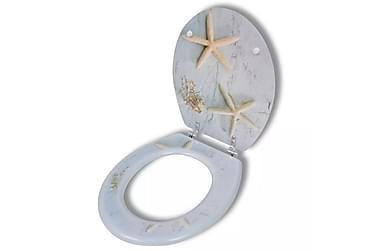 WC Toalettsete MDF Hard Lukkefunksjon Sjøstjerner Utseende