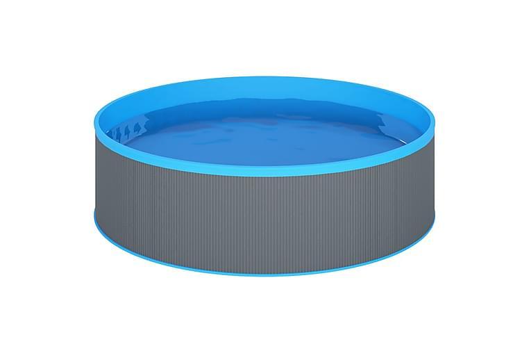 Plaskebasseng med 4-trinns stige 350x90 cm grå - Basseng & spa - Basseng - Barnebasseng & babybasseng