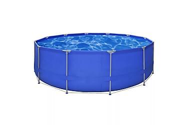 Badebasseng med stålramme 457x122 cm