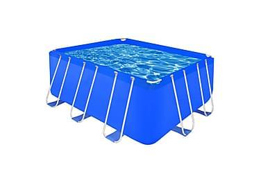 Rektangulært badebasseng med stålramme 400x207x122 cm
