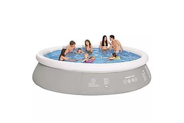 Rund Opplåsbart Svømmebasseng Grå 450x122 cm