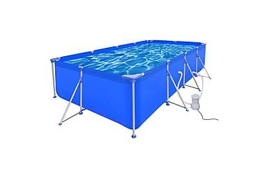 Svømmebasseng med pumpe stål 394x207x80 cm