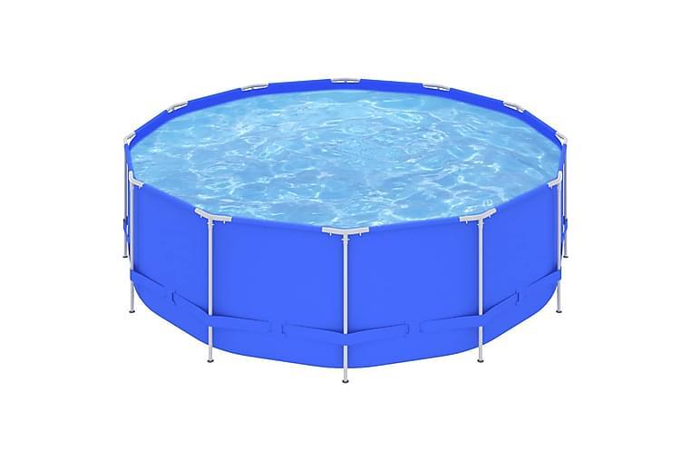 Svømmebasseng med stålramme 457x122 cm blå - Basseng & spa - Basseng - Frittstående basseng