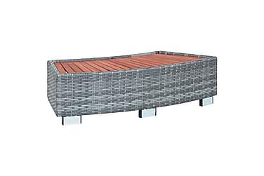 Spakrakk grå polyrotting 92x45x25 cm