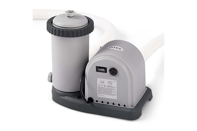 Intex Patronfilterpumpe 5678 l/tim - Grå - Basseng & spa - Spabad rengjøring - Spabad filter