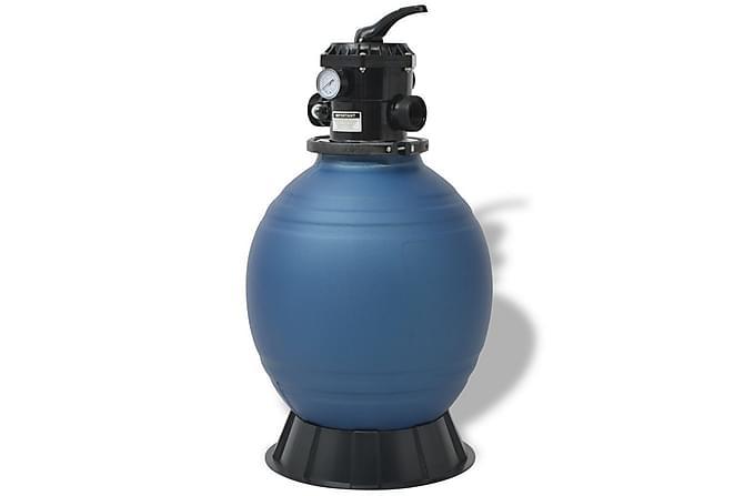 Sandfilter til basseng 18 tommer/460 mm rund blå - Basseng & spa - Spabad rengjøring - Spabad filter