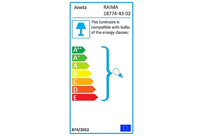 Aneta Raima Bordlampe - Brons/Beige - Belysning - Innendørsbelysning & Lamper - Bordlampe