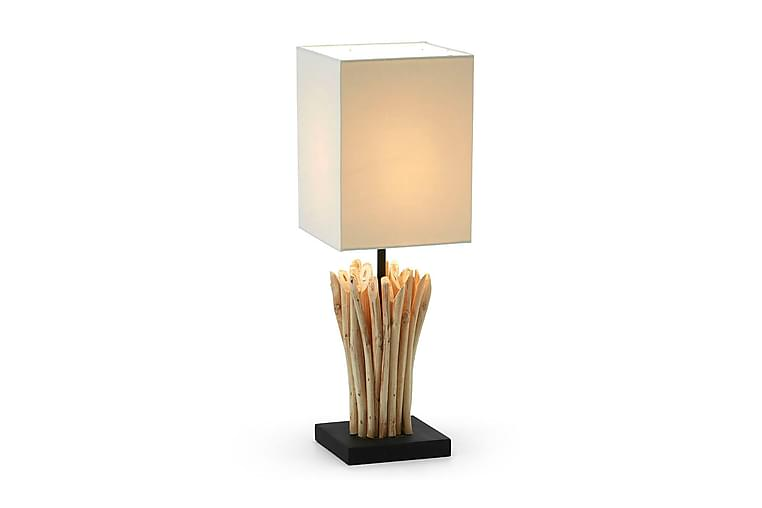 Poob Bordlampe 15/15 cm - Natur/Hvit - Belysning - Innendørsbelysning & Lamper - Bordlampe