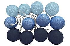 Havsö Blue Indigo Lyslenke 12 Baller + Batteriboks