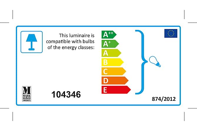 Ekelund Gulvlampe Svartbrun - Markslöjd - Belysning - Innendørsbelysning & Lamper - Gulvlampe