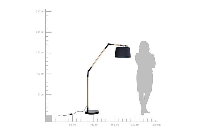 Nogat Gulvlampe 173 cm - Svart - Belysning - Innendørsbelysning & Lamper - Gulvlampe