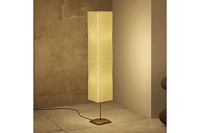 Sumida Gulvlampe 130 cm 2 Lyspærer Rispapir - Krem/Børstet Aluminium - Belysning - Innendørsbelysning & Lamper - Gulvlampe
