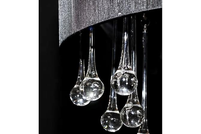 Jeannine Krystallkrone 45 cm Rund 3 Lamper - Svart - Belysning - Innendørsbelysning & Lamper - Krystallkrone & takkrone