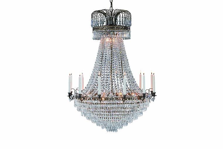 Läckö Takkrone 15L Antikk/Briljant - Markslöjd - Belysning - Innendørsbelysning & Lamper - Krystallkrone & takkrone